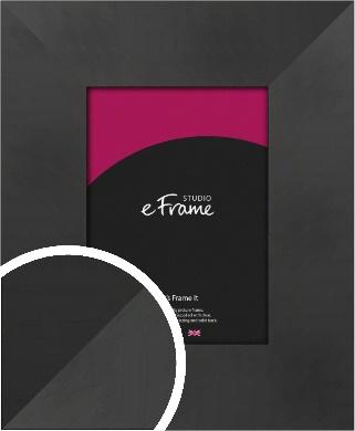 Sleek Brushed Wide Black Picture Frame (VRMP-728)