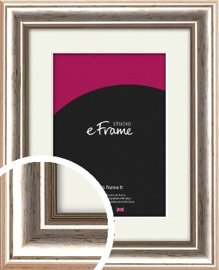 Mixed Silver Picture Frame & Mount (VRMP-184-M)