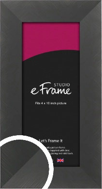 Classic Brushed Black Picture Frame, 4x10