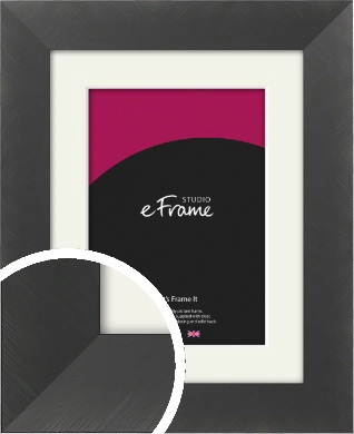 Classic Brushed Black Picture Frame & Mount (VRMP-729-M)