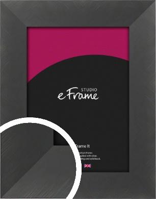 Classic Brushed Black Picture Frame (VRMP-729)