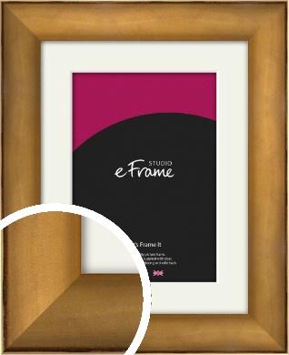 Beautiful Bronze / Copper Picture Frame & Mount (VRMP-143-M)