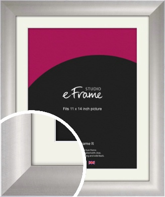 Sleek & Simple Silver Picture Frame & Mount, 11x14