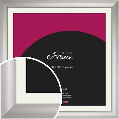 Sleek & Simple Silver Picture Frame & Mount, 50x50cm (VRMP-241-M-50x50cm)