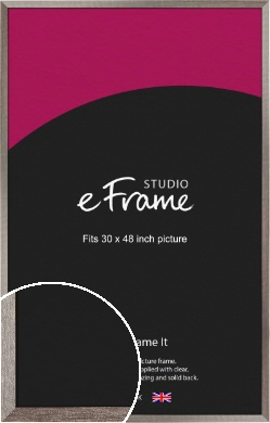 Metallic Effect Silver Picture Frame, 30x48