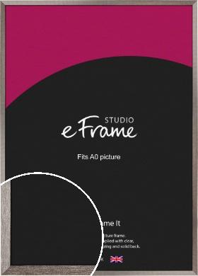 Metallic Effect Silver Picture Frame, A0 (841x1189mm) (VRMP-535-A0)