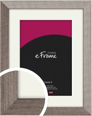 Metallic Effect Silver Picture Frame & Mount (VRMP-535-M)