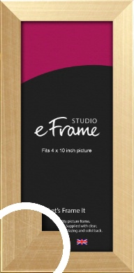 Black Edged Mellow Gold Picture Frame, 4x10