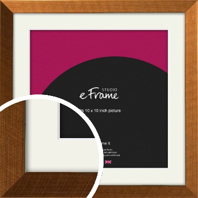 Glamorous Bronze / Copper Picture Frame & Mount, 10x10