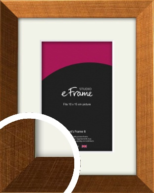 Glamorous Bronze / Copper Picture Frame & Mount, 10x15cm (4x6