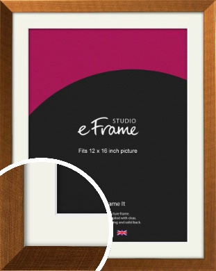 Glamorous Bronze / Copper Picture Frame & Mount, 12x16
