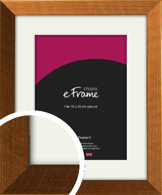 Glamorous Bronze / Copper Picture Frame & Mount, 15x20cm (6x8