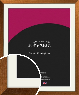Glamorous Bronze / Copper Picture Frame & Mount, 16x20