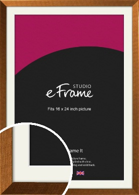 Glamorous Bronze / Copper Picture Frame & Mount, 16x24