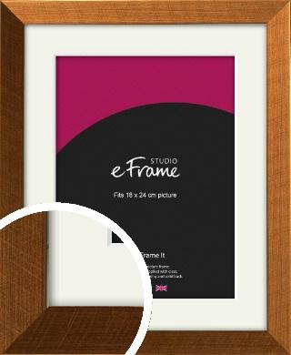 Glamorous Bronze / Copper Picture Frame & Mount, 18x24cm (VRMP-453-M-18x24cm)