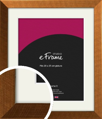 Glamorous Bronze / Copper Picture Frame & Mount, 20x25cm (8x10