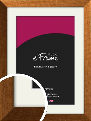 Glamorous Bronze / Copper Picture Frame & Mount, 20x30cm (8x12
