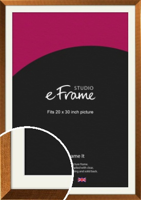 Glamorous Bronze / Copper Picture Frame & Mount, 20x30