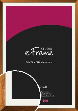 Glamorous Bronze / Copper Picture Frame & Mount, 24x36