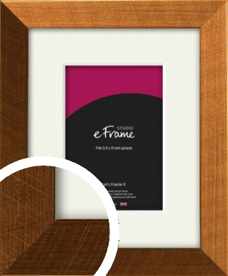Glamorous Bronze / Copper Picture Frame & Mount, 3.5x5