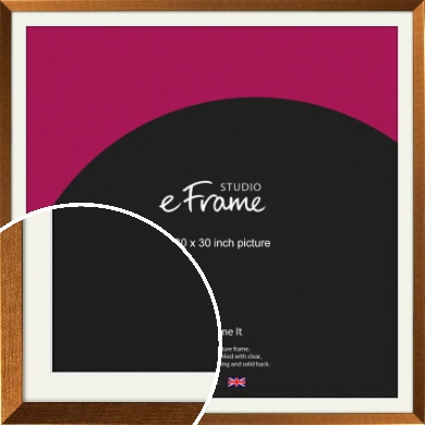 Glamorous Bronze / Copper Picture Frame & Mount, 30x30