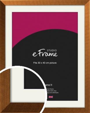 Glamorous Bronze / Copper Picture Frame & Mount, 30x40cm (VRMP-453-M-30x40cm)