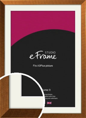 Glamorous Bronze / Copper Picture Frame & Mount, A3Plus (VRMP-453-M-329x483mm)