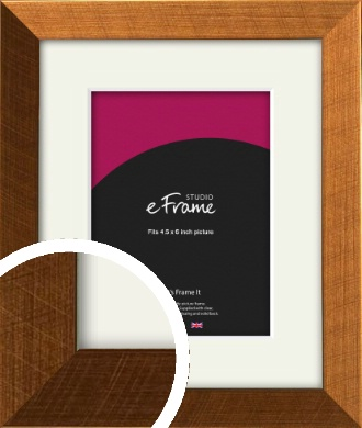 Glamorous Bronze / Copper Picture Frame & Mount, 4.5x6