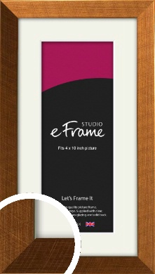 Glamorous Bronze / Copper Picture Frame & Mount, 4x10