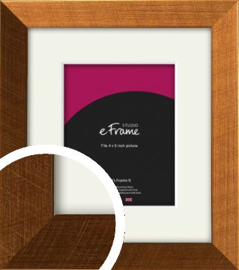 Glamorous Bronze / Copper Picture Frame & Mount, 4x5