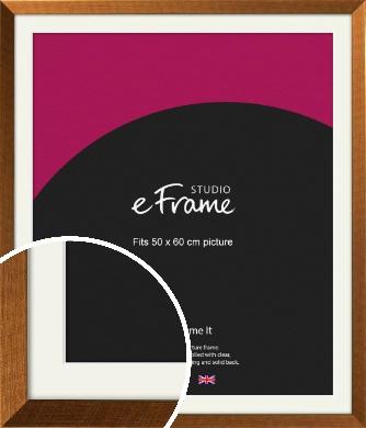 Glamorous Bronze / Copper Picture Frame & Mount, 50x60cm (VRMP-453-M-50x60cm)