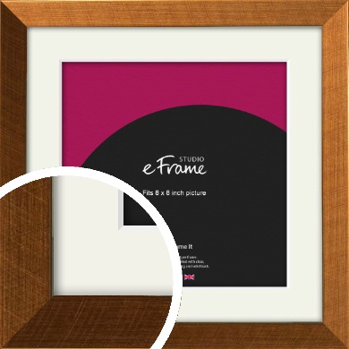 Glamorous Bronze / Copper Picture Frame & Mount, 8x8