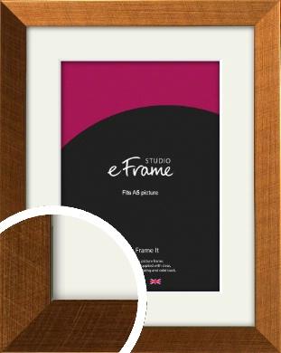 Glamorous Bronze / Copper Picture Frame & Mount, A5 (148x210mm) (VRMP-453-M-A5)