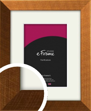 Glamorous Bronze / Copper Picture Frame & Mount, A6 (105x148mm) (VRMP-453-M-A6)