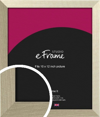 Pale Metallic Etched Silver Picture Frame, 10x12