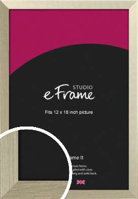 Pale Metallic Etched Silver Picture Frame, 12x18