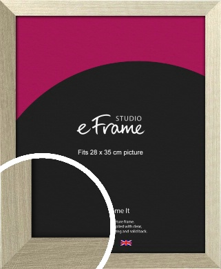 Pale Metallic Etched Silver Picture Frame, 28x35cm (VRMP-471-28x35cm)