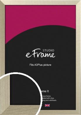 Pale Metallic Etched Silver Picture Frame, A3Plus (VRMP-471-329x483mm)
