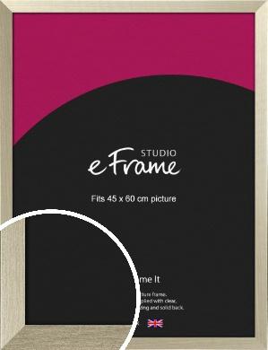 Pale Metallic Etched Silver Picture Frame, 45x60cm (VRMP-471-45x60cm)