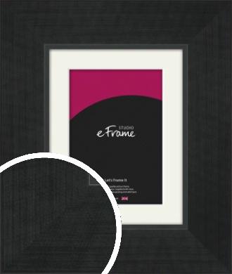 Wide Brushed Black Picture Frame & Mount (VRMP-1239-M)