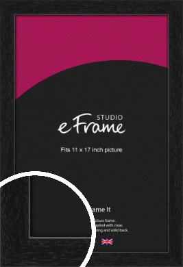 Straight Edged Box Black Picture Frame, 11x17