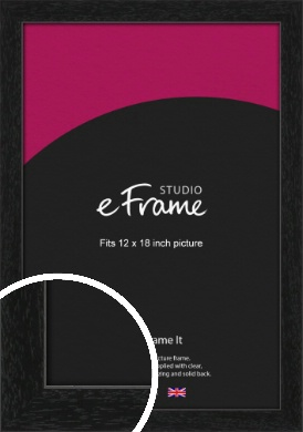 Straight Edged Box Black Picture Frame, 12x18