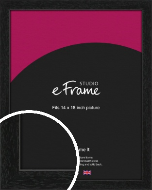 Straight Edged Box Black Picture Frame, 14x18