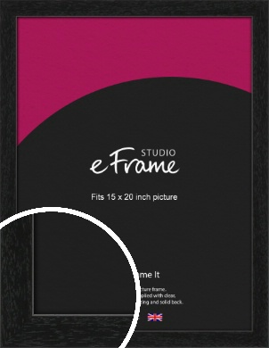 Straight Edged Box Black Picture Frame, 15x20