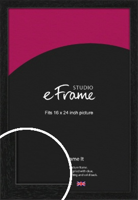 Straight Edged Box Black Picture Frame, 16x24