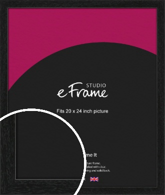 Straight Edged Box Black Picture Frame, 20x24