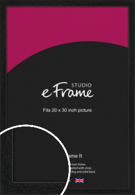 Straight Edged Box Black Picture Frame, 20x30