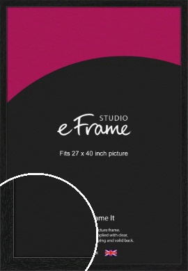 Straight Edged Box Black Picture Frame, 27x40