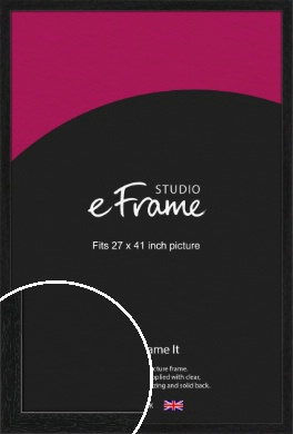 Straight Edged Box Black Picture Frame, 27x41