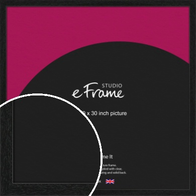 Straight Edged Box Black Picture Frame, 30x30